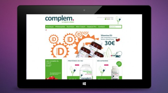 La page accueil de Complem
