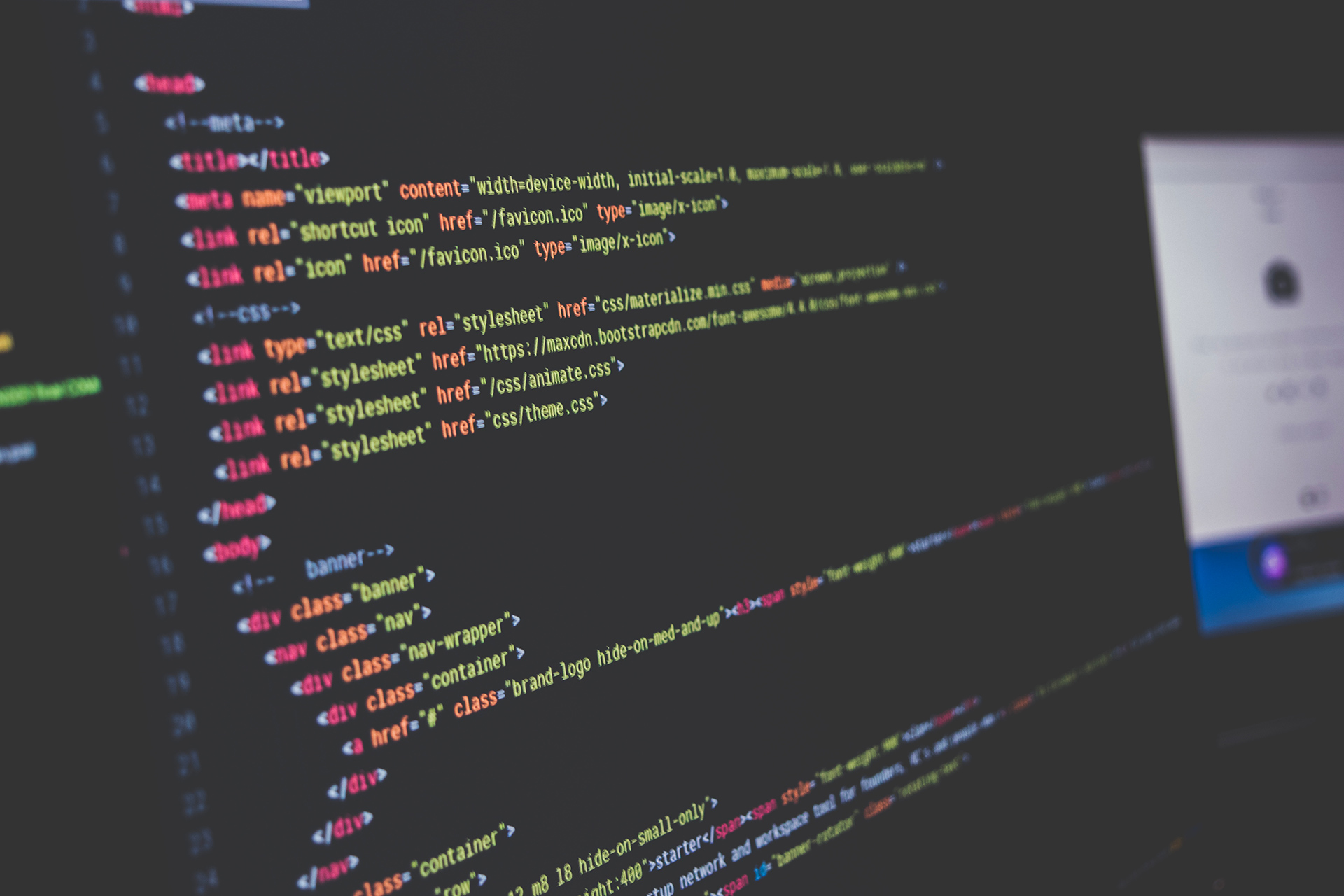 Le code html